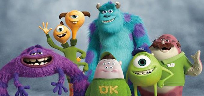 protagonisti di monsters university della Pixar