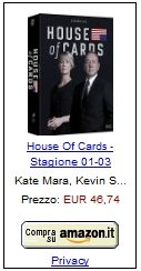 house of cards amazon